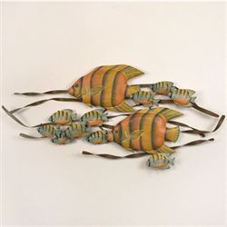 Underwater Angelfish Wall Sculpture Yellow