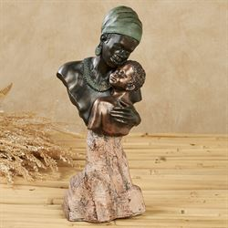 No Greater Love African Mother Sculpture Brown