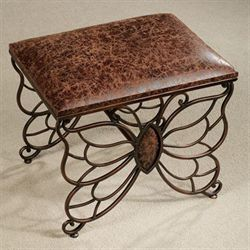 Flights of Fancy Butterfly Stool Bronze