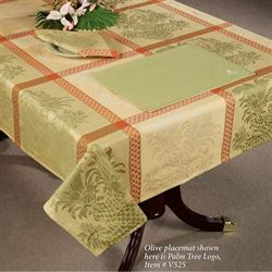 Pineapple Oblong Tablecloth Yellow