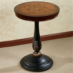 Esmerelda Accent Table Black Brown