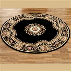 Elegant Medallion Round Wool Area Rugs