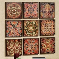 Tuscan Wall Panel Set Multi Warm Set of Nine