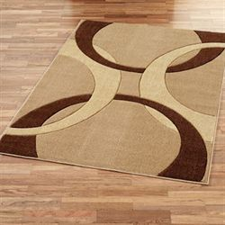 Corfu Contemporary Rectangle Rug Brown