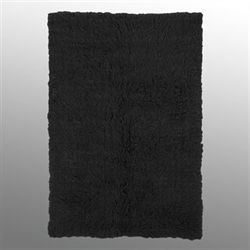 Black Flokati Rectangle Rug