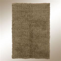 Khaki Flokati Rectangle Rug