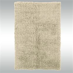 Natural Flokati Rectangle Rug