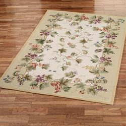 Vining Grapes Rectangle Rug
