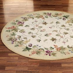 Vining Grapes Round Rug