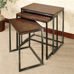 Downtown Nesting Table Set Autumn Cherry Set of Three