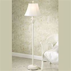 Sand and Shell Whitewash Floor Lamp Each with CFL Bulb