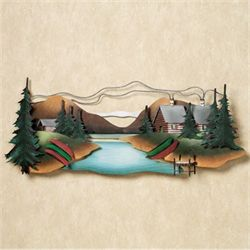 Lakeside Hideaway Wall Sculpture Multi Earth