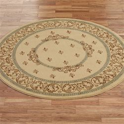 Monarch Medallion Round Rug 53 Round