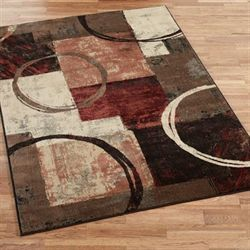 Arcade Rectangle Rug Brown
