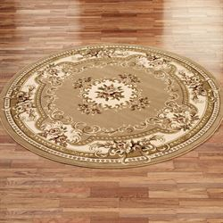 Imperial Aubusson Round Rug  77 Round