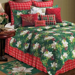 Bella Magnolia Quilt Dark Green