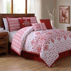Alba Comforter Bed Set Claret