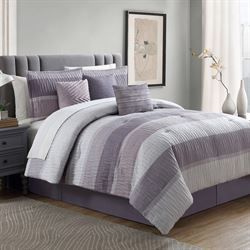 York Comforter Bed Set Wisteria