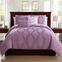 Megan Comforter Bed Set Light Amethyst