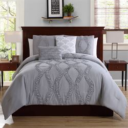 Megan Comforter Bed Set Silver