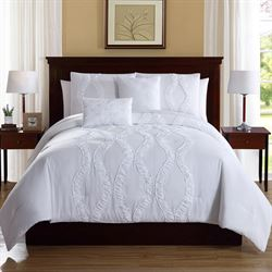 Megan Comforter Bed Set White