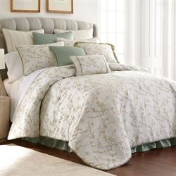 Lexington Floral Comforter Set Eggshell