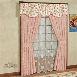 Caicos Wide Tailored Curtain Pair Light Cream 100 x 84