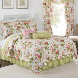 Emmas Garden Quilt Set White
