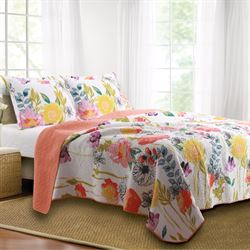 Watercolor Dream Quilt Set Multi Cool