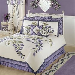 Wisteria Garden Quilt Set Light Cream