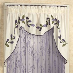 Wisteria Garden Swag Valance Light Cream 72 x 36