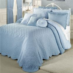 Evermore Powder Blue Grande BedspreadPowder Blue