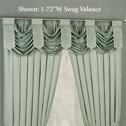 Evermore Celadon Swag Valance