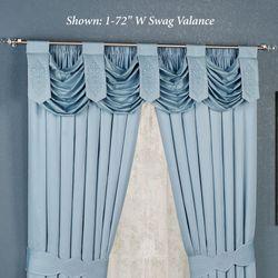Evermore Powder Blue Swag Valance