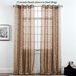 Corfu Sheer Grommet Curtain Panel 55 x 84