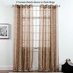 Corfu Sheer Grommet Curtain Panel 55 x 84