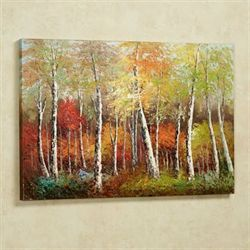 Brilliant Autumn Canvas Wall Art Multi Warm