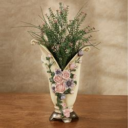Summer Florals Decorative Table Vase Multi Pastel