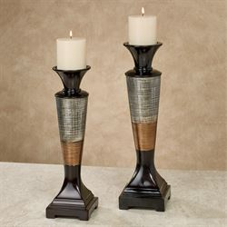 Ottavio Candleholders Multi Metallic Set of Two