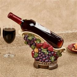 Tuscan Fruit Wine Bottle Holder Multi Jewel