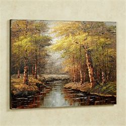 Reflections of Fall Canvas Wall Art Multi Earth