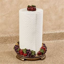 Tuscan Fruit Paper Towel Holder Multi Jewel