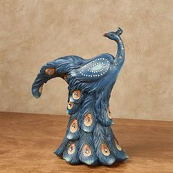 Elegant Peacock Decorative Vase Blue