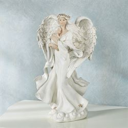 Undisturbed Love Angel Figurine Old World White