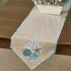 Seaview Table Runner Sand 14 x 72