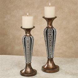 Sarbello Candleholders Multi Metallic Set of Two