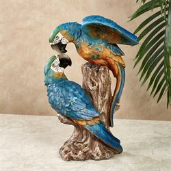 Parrot Lovebirds Table Sculpture Blue