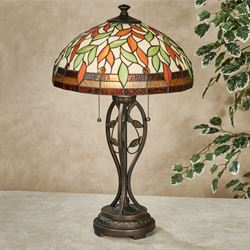Darent Stained Glass Table Lamp Multi Earth Each with CFL Bulbs