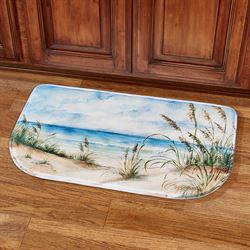 Coastal Landscape Cushioned Slice Mat Blue 30 x 18