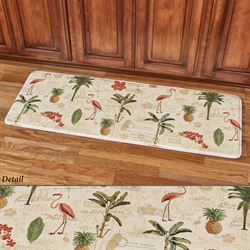 Floridian Toss Cushioned Runner Mat Light Cream 55 x 20